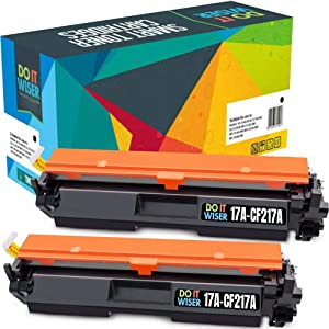 Do it Wiser Compatible Toner Cartridge Replacement for HP 17A CF217A Toner Laserjet Pro M102w MFP M130fw M130nw M130fn (2-Pack) with Chip