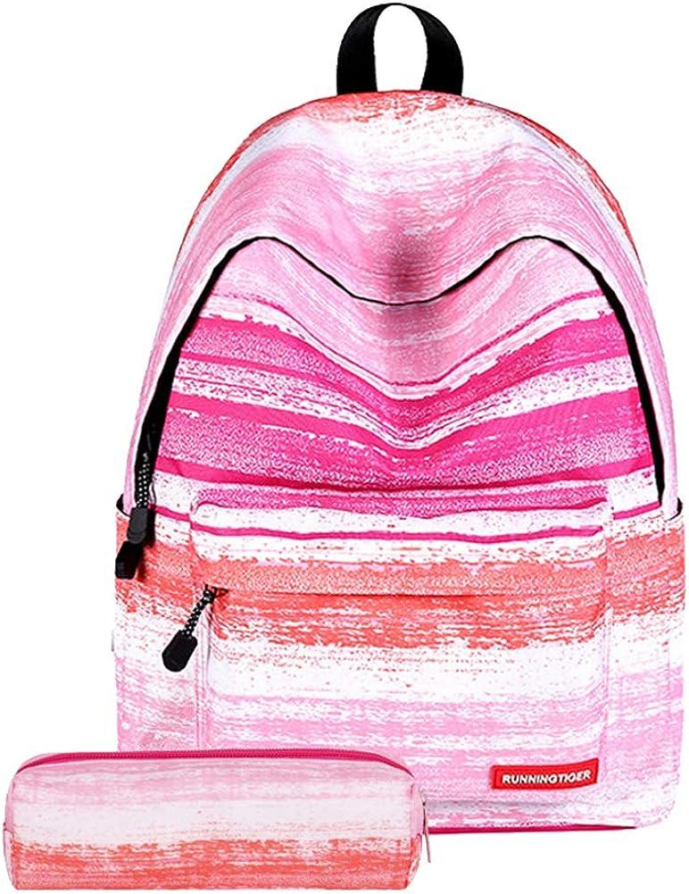 Da.Wa Student Shoulder Star Backpack Primary and Middle School Schoolbag for Teen Bookbag