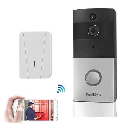 Funlifego WiFi Video DoorbellSmart Doorbell Built-in 8G TF Card Home Security HD720P  sc 1 st  Amazon.com & Amazon.com: Funlifego WiFi Video DoorbellSmart Doorbell Built-in ...