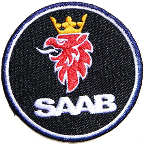 SAAB SCANIA Logo Sign Motorsport Car Truck Patch Sew Iron on Applique Embroidered T shirt Jacket Suit Custom BY SURAPAN