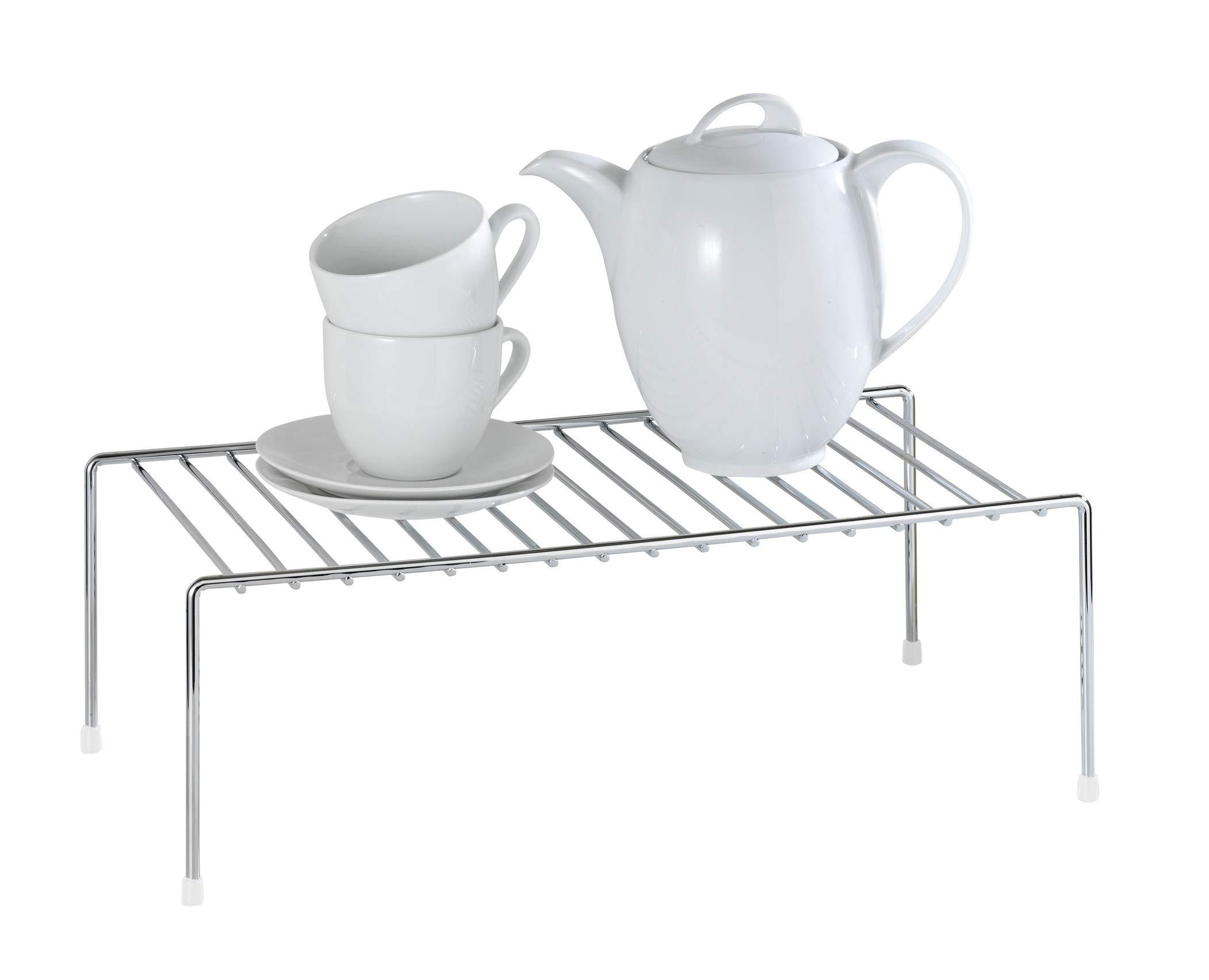 WENKO 2342100 Estante de cocina para vajilla, Metal cromado, 42.5 x 15 x 22