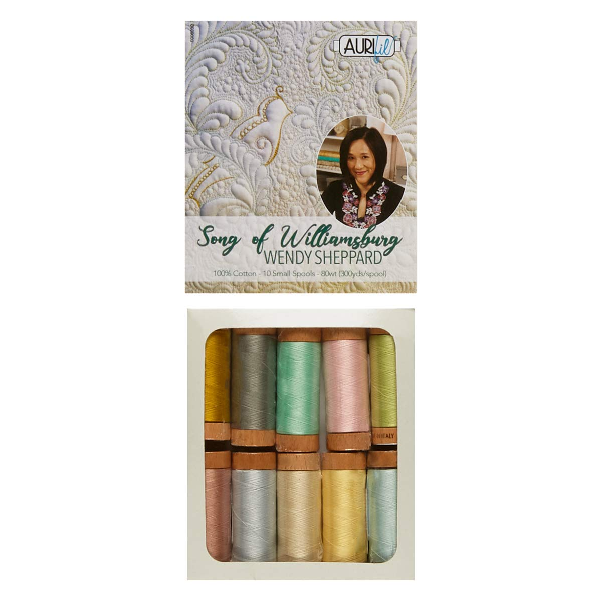 Aurifil Wendy Sheppard Song of Williamsburg -10 Spool Pack