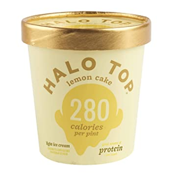 Halo Top Light Ice Cream Lemon Cake 16 Oz Frozen Amazon
