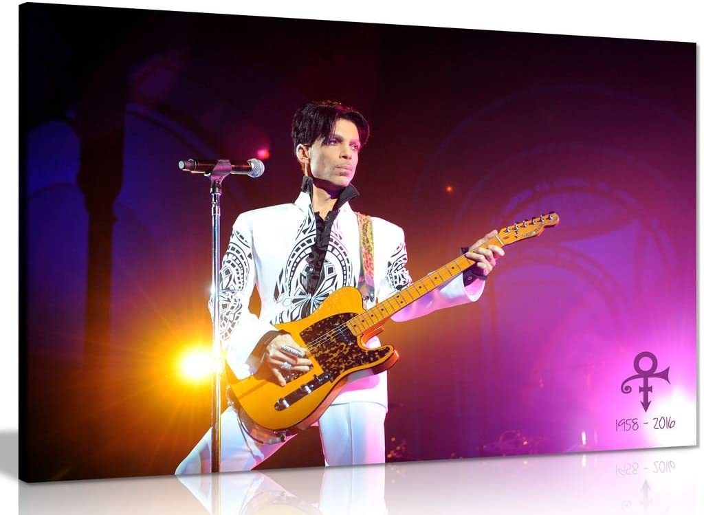 Prince Purple Rain Tribute Canvas Wall Art Picture Print (36x24in)