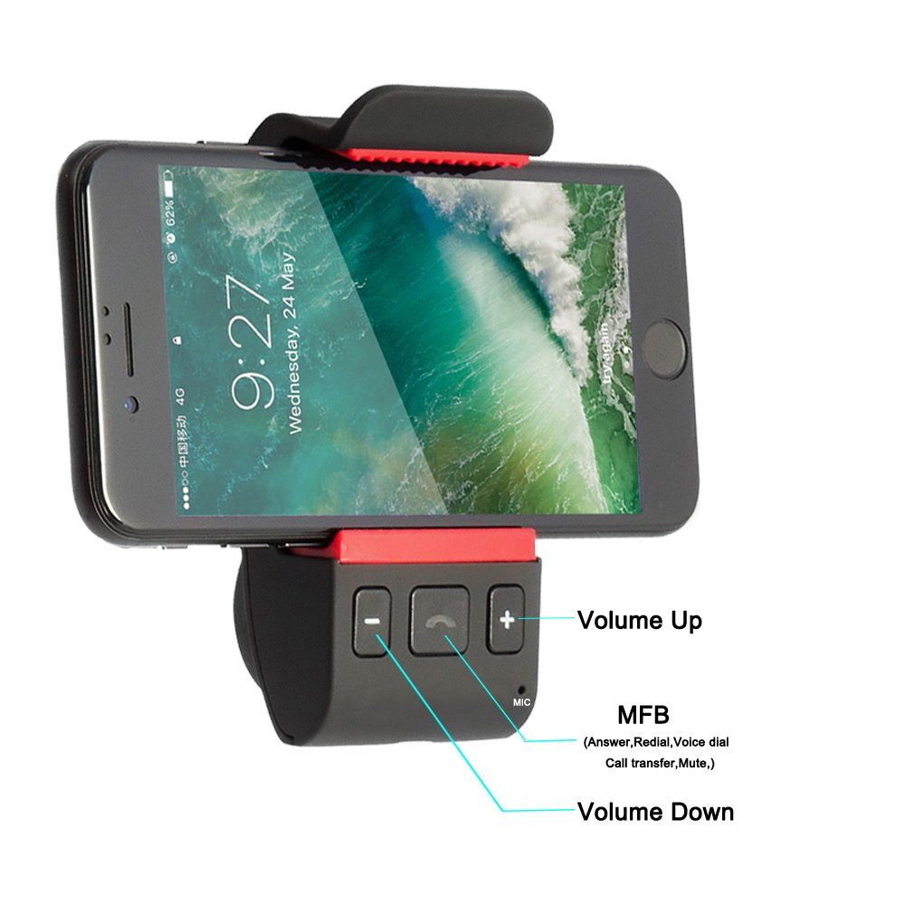 Hands Free Bluetooth車キットfor Cell Phone、カーオーディオBluetoothスピーカーフォン BTSP 01 B07C9D9C1S  Windshield