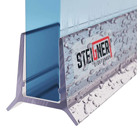50cm Gerade PVC Ersatzdichtung f/ür Dusche UK21 STEIGNER Duschdichtung Glasst/ärke 3,5// 4// 5// 6// 7 mm