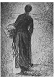 Georges Seurat (Woman with Basket) Art Poster Print 13 x 19in