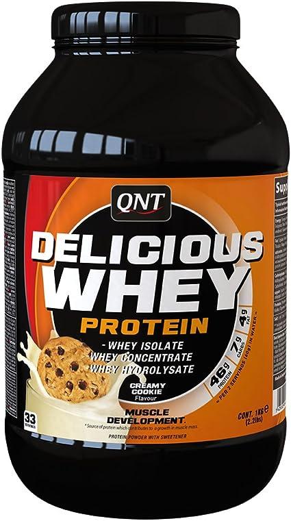 QNT Delicious Whey Protein, Sabor Creamy Cookie - 1000 gr