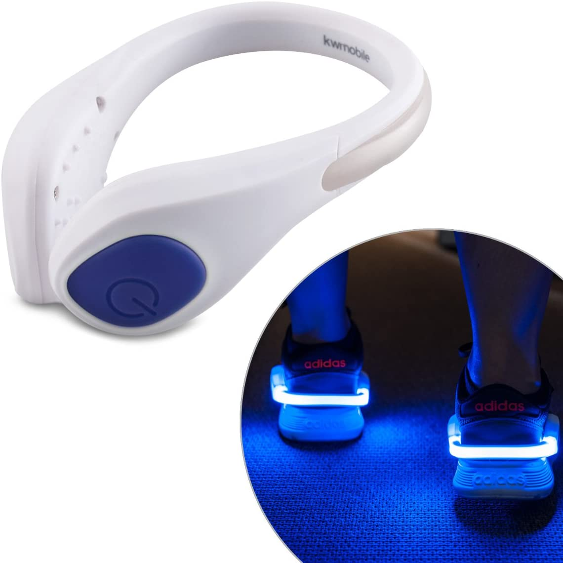 Set of 2 Flashing Shoe Clips in Multiple Colors Reflective Safety Night Athletic Gear for Runners Joggers Bikers kwmobile LED Light Shoe Clip