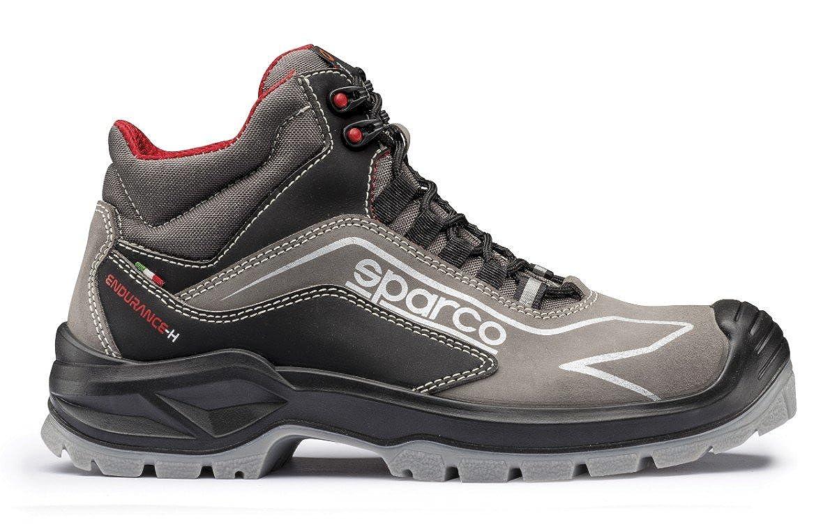 07521GRNR Sparco Scarpe Antinfortunistica Endurance Alte S3 SRC Pelle Nubuck Nero//Grigio Art