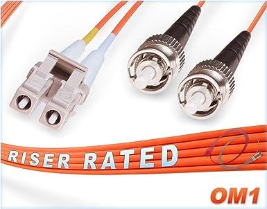 25M 9//125 Singlemode SIMPLEX Fiber Jumper Zipcord Cable LC//UPC SC//UPC