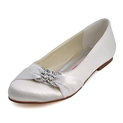 Amazon.com | ElegantPark Women Closed Rhinestones Comfort Flats ...