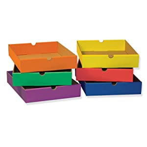 Classroom Keepers 6-Drawer Set for 6-Shelf Organizer, Assorted Colors (001313)