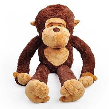 Dis gigante Big Mouth Mono super suave Mono de peluche Animal de peluche Peluche Juguete café