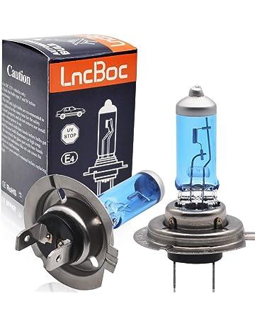 LncBoc 2 x H7 Bombilla Lámparas Halógenas Faro Delantero del Coche Lámparas Luces de Coche 12V