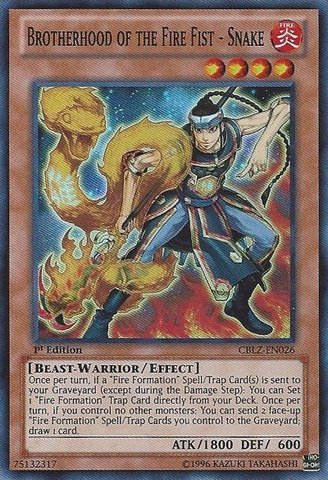 (Yu-Gi-Oh! - Brotherhood of the Fire Fist - Snake (CBLZ-EN026) - Cosmo Blazer - 1st Edition - Super)