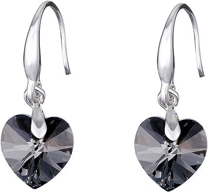 boucles d'oreilles pendantes argent swarovski