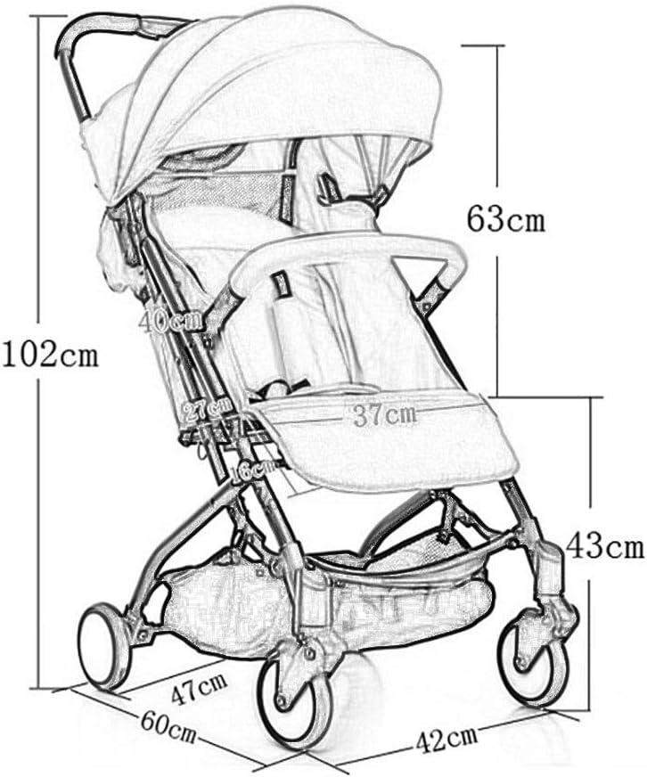 Ultra l/éger Portable Pliant Parapluie b/éb/é Enfant sur Le Plan Enfant Chariot Color : Navy Blue HUNYUAN-LF Poussette de b/éb/é Pouvez Vous asseoir et Recline