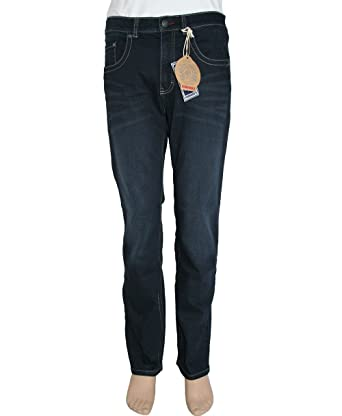 ef8785eba260d5 Paddock`s Herren Jeans Carter - Regular Fit - Blau - Blue Black Stone Used   Amazon.de  Bekleidung