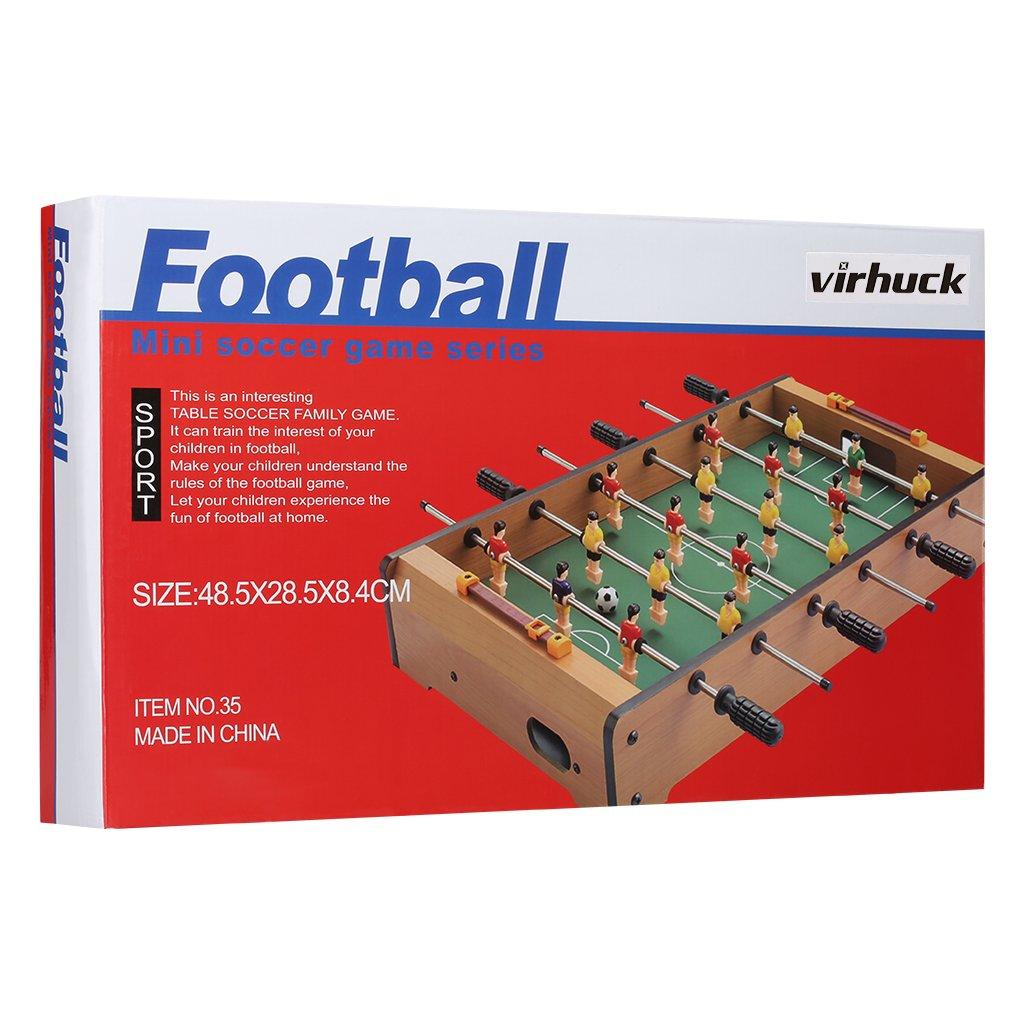 Indoor /& Outdoor Tisch Fu/ßball Spiel Set f/ür Kinder 19 Football Virhuck Mini Tischplatte Tischkicker Tischbillard