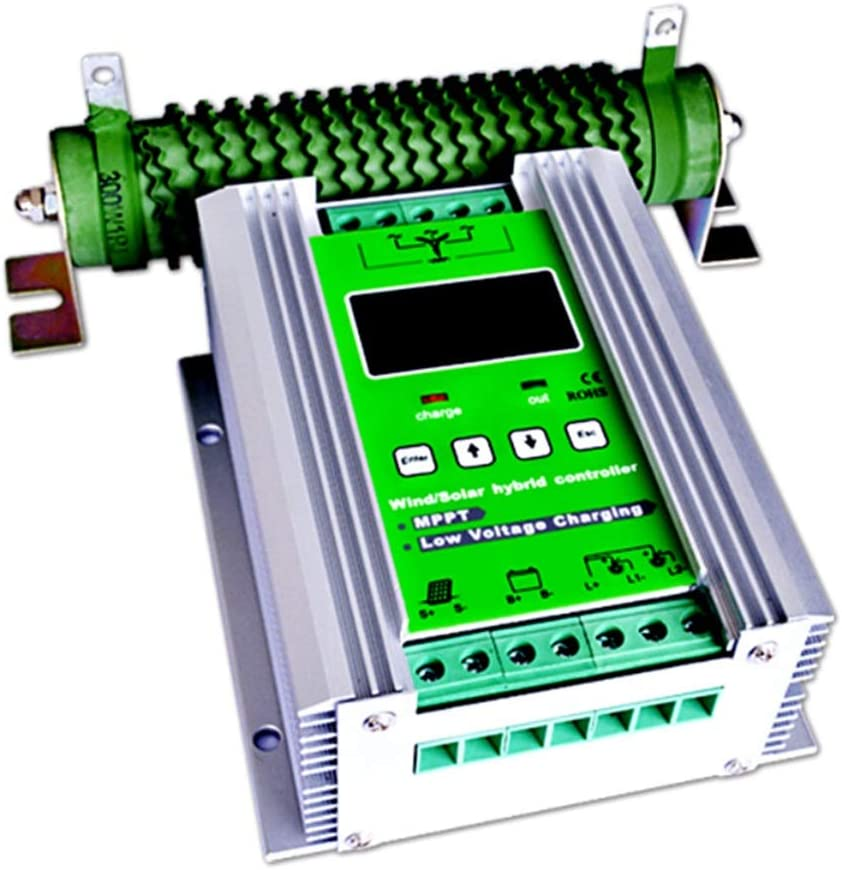 Controlador híbrido de carga solar de 500 W MPPT Controlador de carga solar de 300 W Controlador de carga solar de 200 W Controlador híbrido de refuerzo automático de 12V / 24V con carga de descarga l
