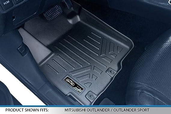 All Weather Heavy Duty Floor Mat Set Autotech Park Custom Fit Car Floor Mat for 2014-2019 Mitsubishi Outlander