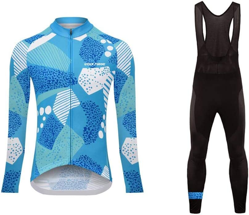 Uglyfrog Ciclismo Abbigliamento Donna Autumn da Bici Manica Lunga e Pantaloni Completo Confortevole Traspirante CXWX04F