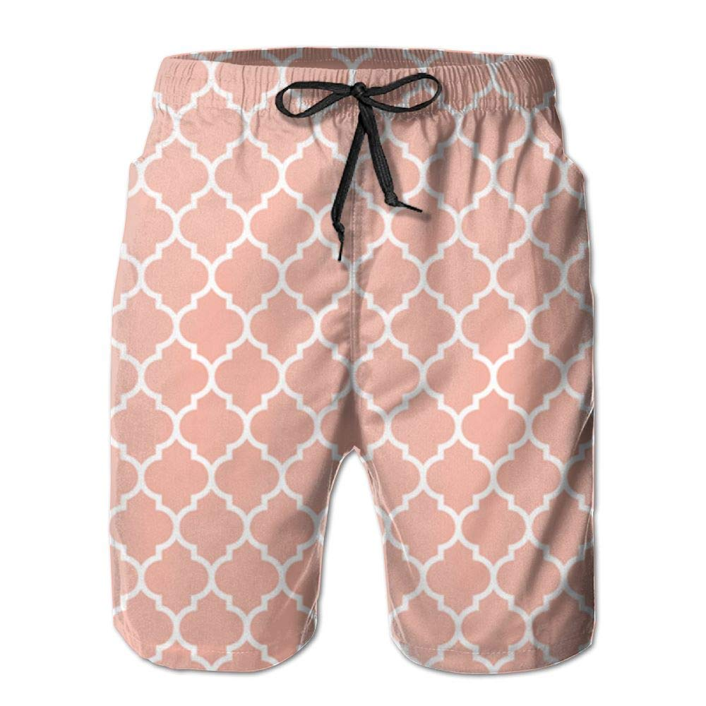 QYKKJF Mens Stereoscopic Pixel Summer Holiday Quick-Drying Swim Trunks Beach Shorts Board Shorts