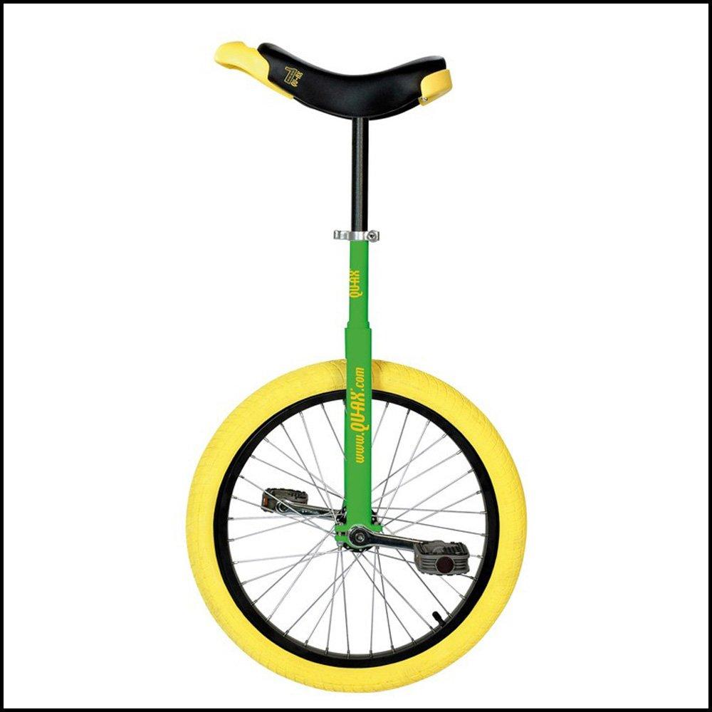 """QU-AX Einrad 20"""" Luxus Alufelge   Reifen gelb grün Fahrrad   Unicycle"""