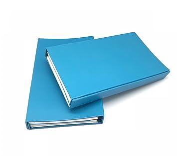 amazon com 2 pack blue 6 tri fold foldable personal organizer
