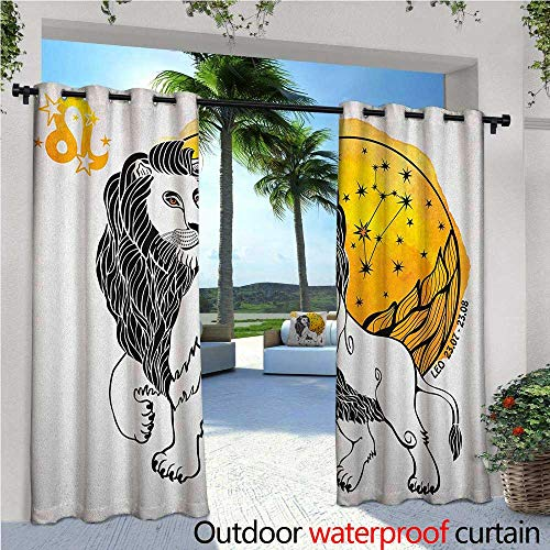 Zodiac Outdoor- Free Standing Outdoor Privacy Curtain Royal Leader of