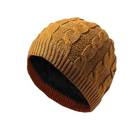YXDDG Slouchy cálido Invierno Sombrero Gorro de Punto para Invierno Gran  tamaño Grueso Slouchy Anchos se e1eee3dd354