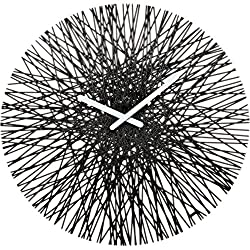 koziol SILK Wall Clock, black