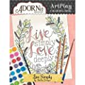 Adornit Artplay Coloring Book-Live Simply from Adorn-It