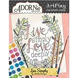 Kyпить Adornit Artplay Coloring Book-Live Simply на Amazon.com