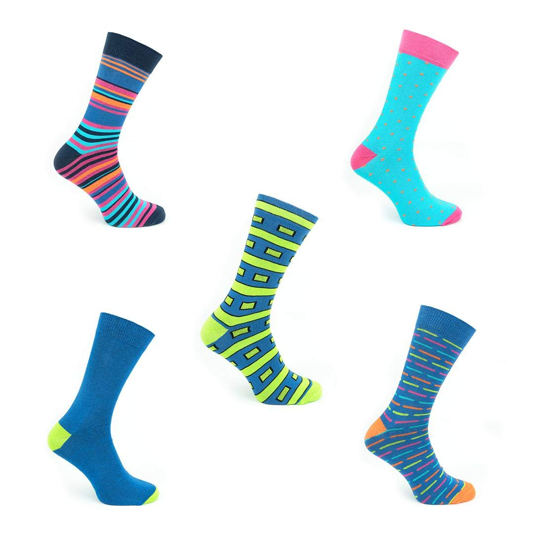 Made in Europe TWO LEFT SOCKS 5 Pairs Funky Socks in a Gift Box Colorful Patterned Luxury Dress and Leisure Socks Funny Designs and Sizes for Men Women and Children