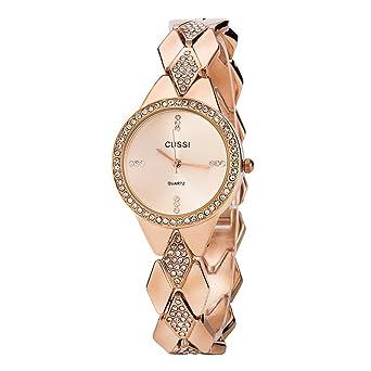 Amazon.com: Reloj de pulsera para mujer con correa de ...