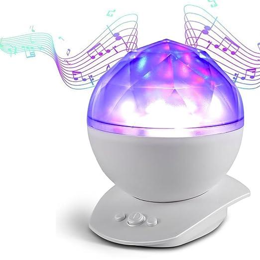 Lámpara Proyector, Color Diamante Proyector de Luz Océano Nocturna ...