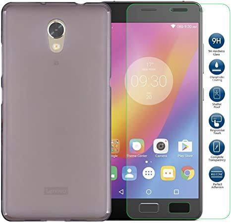 Lenovo P2 Cover - MYLB (2 in 1) Slim TPU funda carcasa case + 9H ...