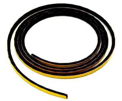 Chimenea Junta de cordón hueca autoadhesiva. Apto para Varios Modelos Oranier Chimenea 3 m,