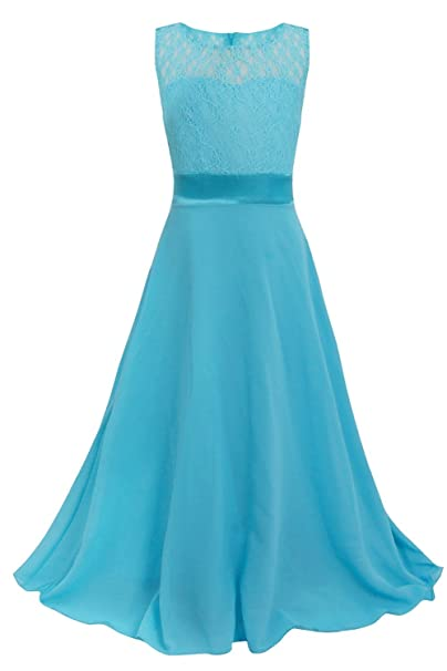 Freebily Vestido Elegante Boda para Niña Dama de Honor (4-14 Años) Vestido
