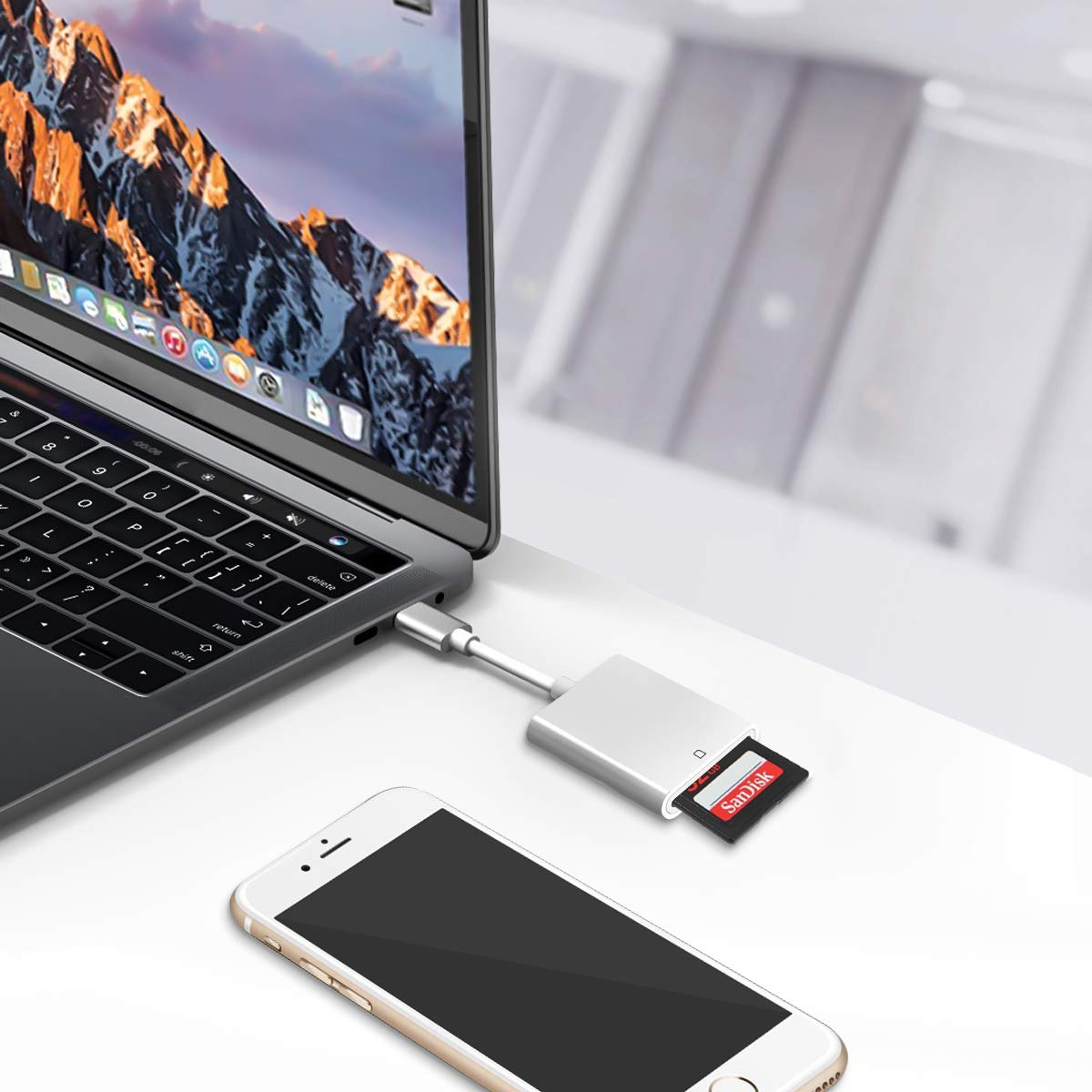 USB Type C Card Reader,LANMU USB C to SD Card Reader for SD,SDHC,Mini SD,Micro SD,MMC,Android Phone,Tablet and More