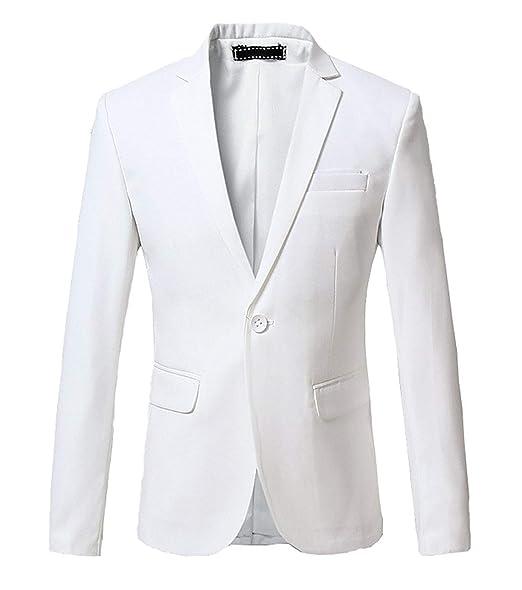fe1783562908b HX fashion Men's Blazer Wedding Suits Slim Fit Prom Jacket Wedding  Comfortable Sizes Suit Slim Fit Suit Jackets Tuxedo Blazer Clothing:  Amazon.co.uk: ...