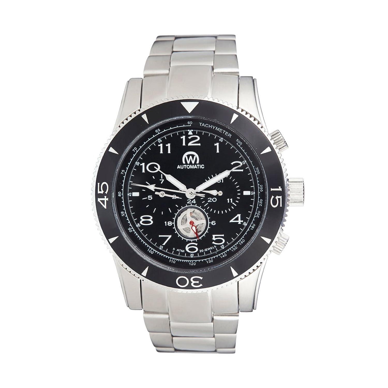 Chronowatch - Uhr Navymatic WÄhlscheiben Farbe schwarz- Case Stahl - Armband Metall - Herren
