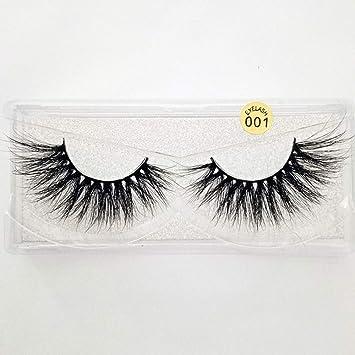 6539f3da127 Amazon.com : 25mm Lashes 3D Mink Hair False Eyelashes Multilayers Dramatic Wispy  Fluffy Eyelashes Extension Handmade Reusable Eye Lashes (001) : Beauty