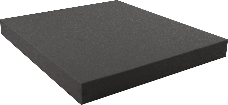 4 Stück//1m² Akustikschaum Plattenabsorber glatt aus Basotect® grau 50x50x5cm