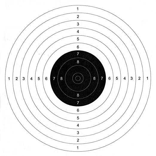 picture about Printable Air Rifle Targets called Kiehberg Concentration Paper (Pack Of 100) For Focus Sports activities