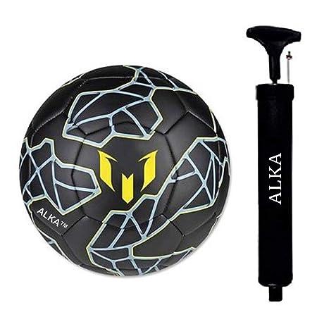 ALKA CLUB M Rubber Football With Pump, Size 5,  Black