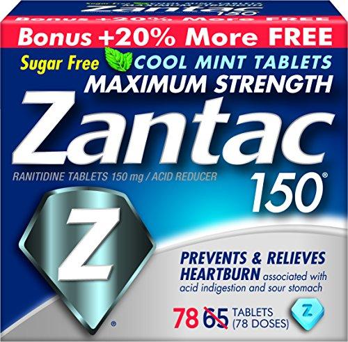 Zantac comprimés de force maximale 150, Cool Mint, comte 78