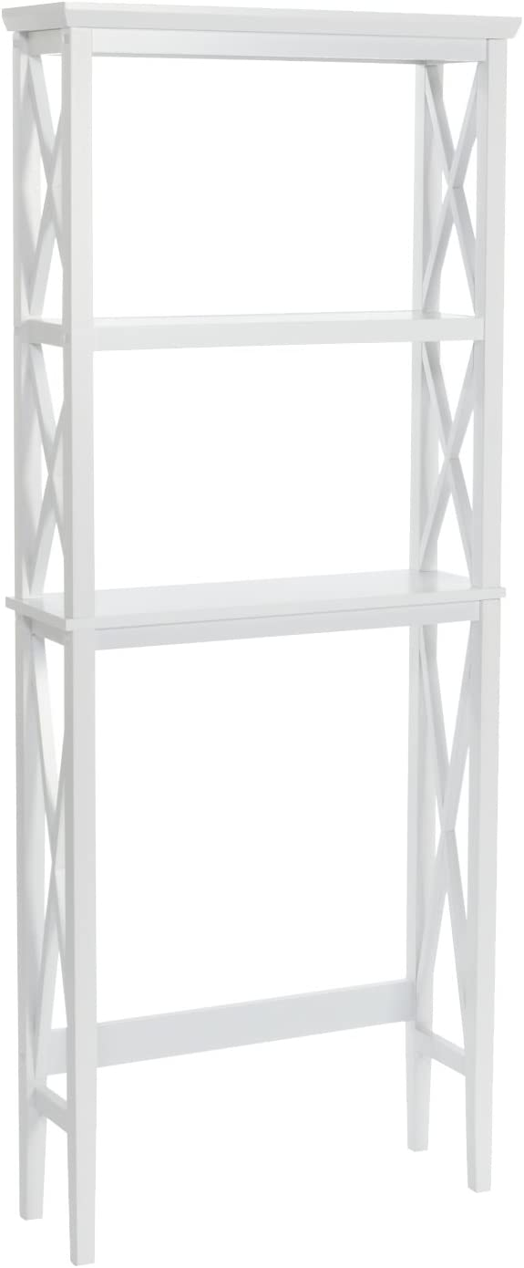 RiverRidge X- Frame Collection Spacesaver, White